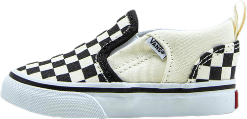 Asher V Slip in Checkers Toddler White/Black