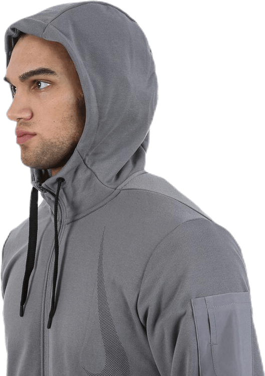 RY Hood Fleece LS PX Grey