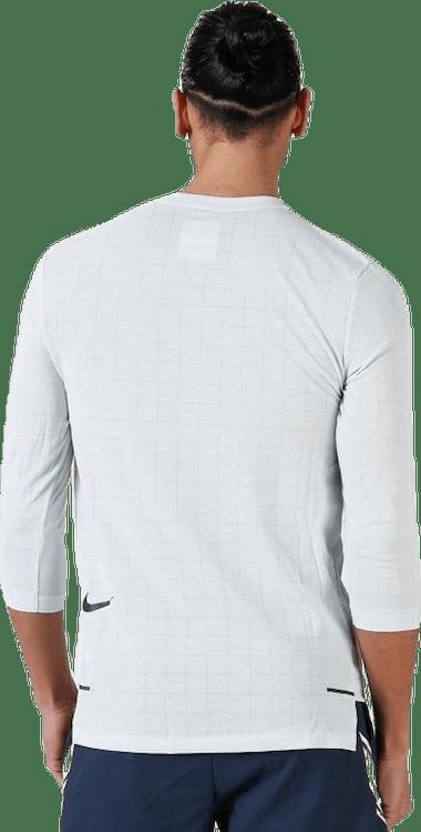 Tech Pack Rise 3QTR Top White/Grey