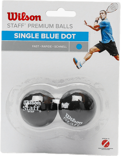 Staff Squash 2 Ball Black