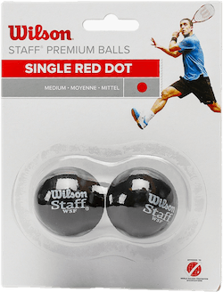 Staff Squash 2 Ball RED Black