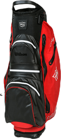 W/S Dry Tech II Cart Bag White/Red