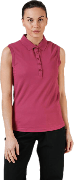Sleeveless Polo Pink
