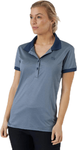 Stripe Polo Grey