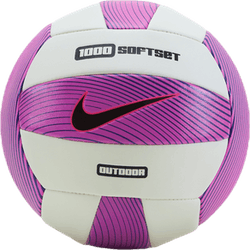 1000 Soft Set Outdoor Volleyball Pink/White