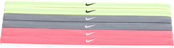 Swoosh Sport Headbands 6pk 2.0 Grey/Yellow/Red