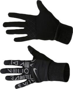 JDI Flash Shield Running Gloves Black/Silver