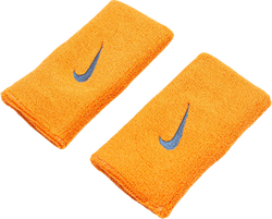 Swoosh Doublewide Wristbands Orange