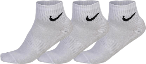 3-pack Everyday Ankle Cushion White/Black