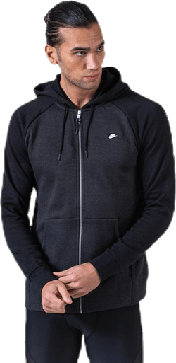 Optic Hoodie Full-Zip Black
