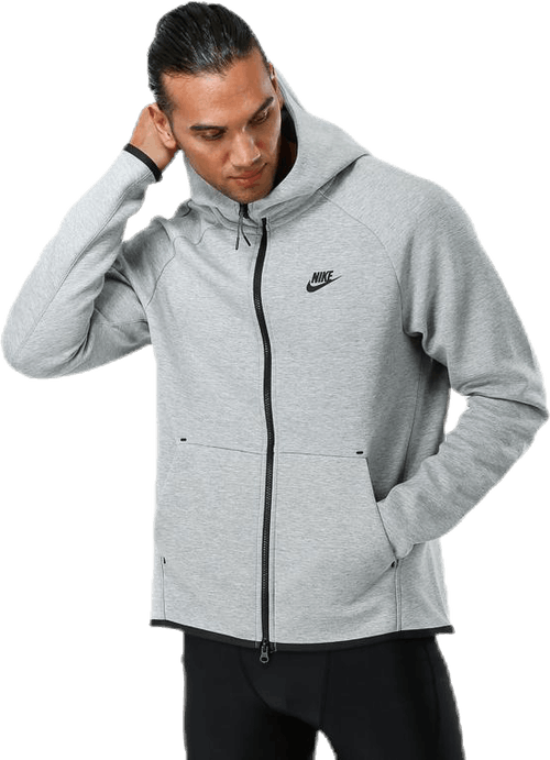 Tech Fleece Hoodie Fz Dk Grey Heather/Black/Black