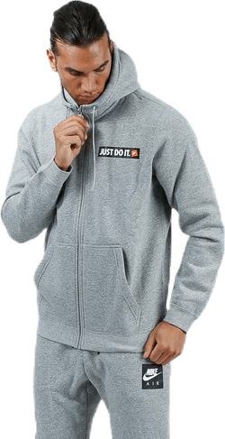 Hybrid Full Zip Fleece Hoodie Grey