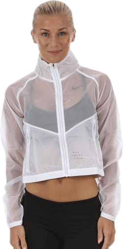 Transparent Running Division Jacket White