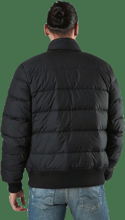 Down Fill Bomber Jacket White/Black