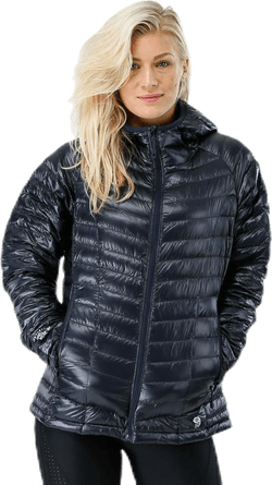 Ghost Whisperer Hooded Down Jacket Black/Grey