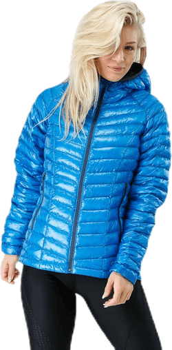Ghost Whisperer Hooded Down Jacket Blue