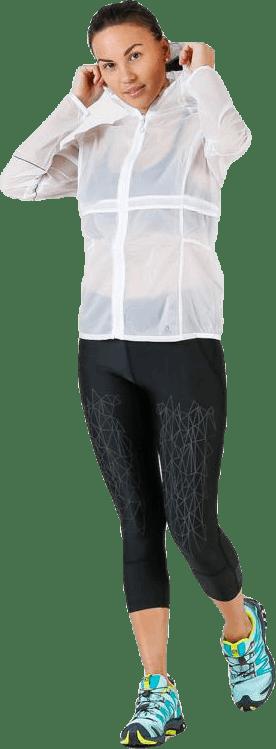 Elevate Aero Full Zip Hoodie White/Grey