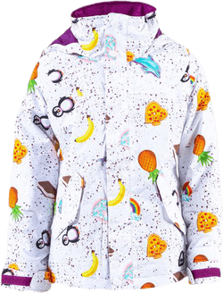 Girls Elodie Jacket Patterned/White
