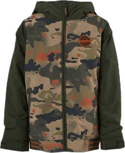 Boys Gameday Jacket Patterned/Green