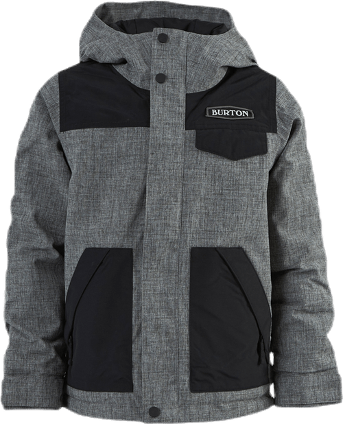 Boys Dugout Jacket Black/Grey