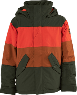 Boys Symbol Jacket Orange/Green