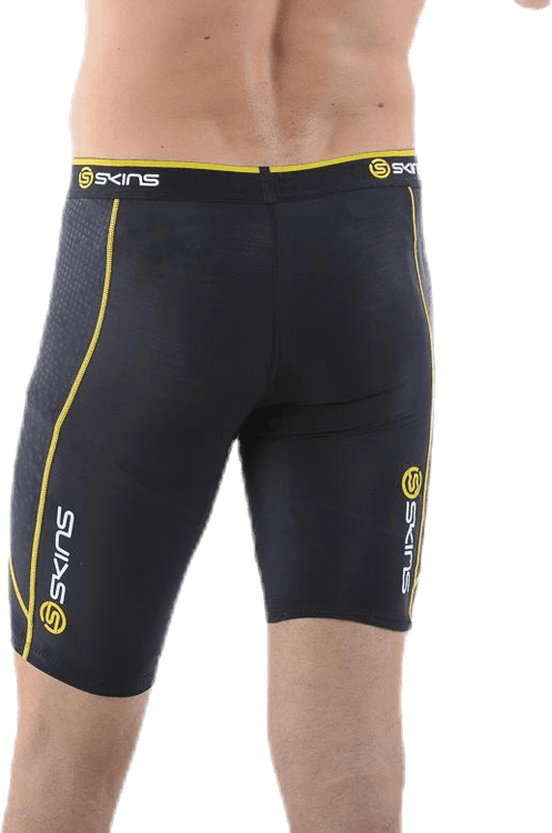 A200 Mens Compression Shorts Black/Yellow