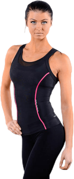 A200 Womens Racer Back Top Pink/Black