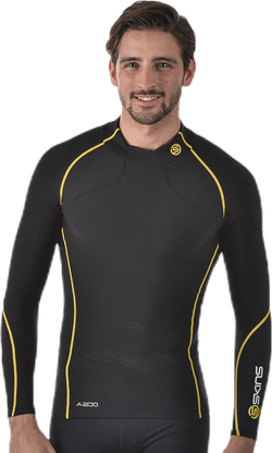 Mens Therml L/S Mck Neck Black/Yellow