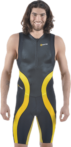 Tri400 Skinsuit Front Zip Black/Yellow