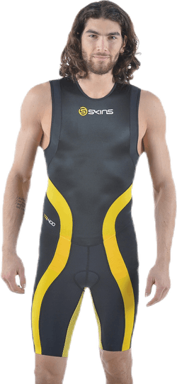 Tri400 Skinsuit Back Zip Black/Yellow