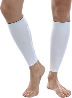 Compression Calf Guard White