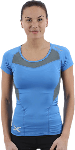 Compression Short Sleeve Top Blue/Grey