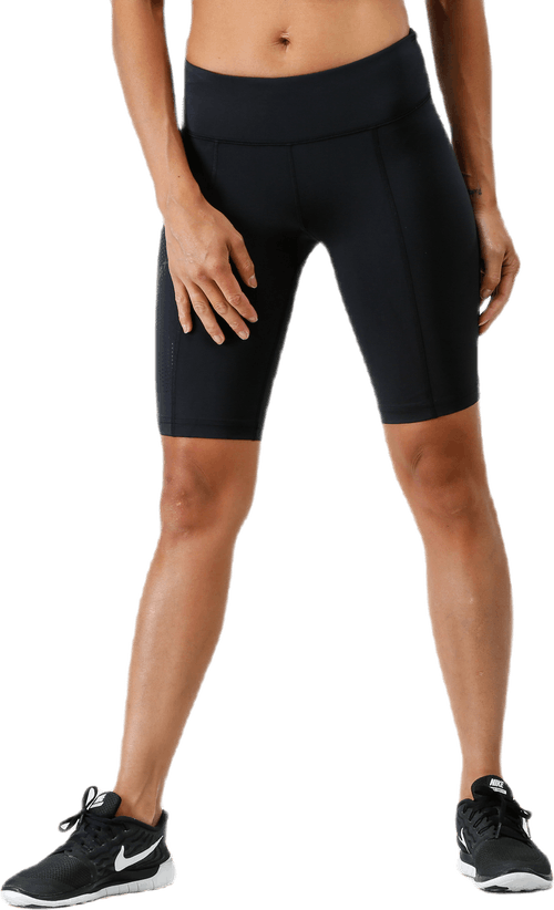 Mid-Rise Compression Shorts W Black