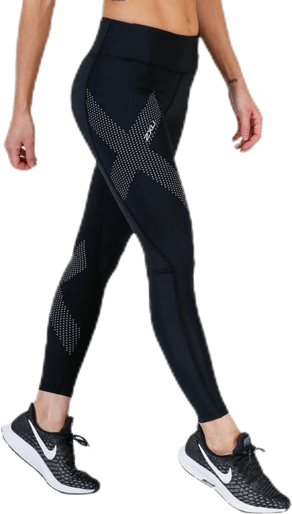 Mid-Rise Compression Tights Black/Grey