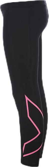 Girl`s Compression Tights-U Junior Pink/Black