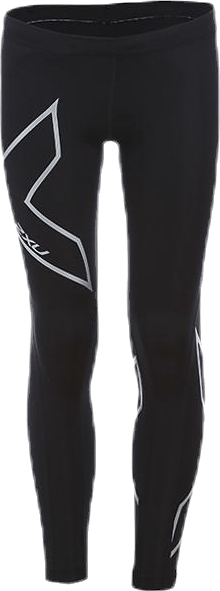 Girl`s Compression Tights-U Junior Black/Silver