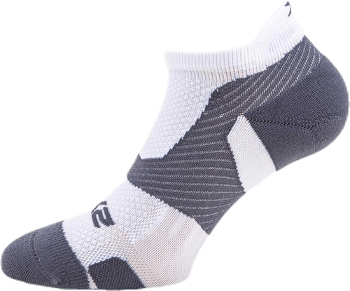 Vectr LightCushion NoShow Sock White/Grey