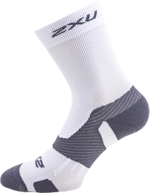 Vectr Light Cushion Crew Socks White/Grey