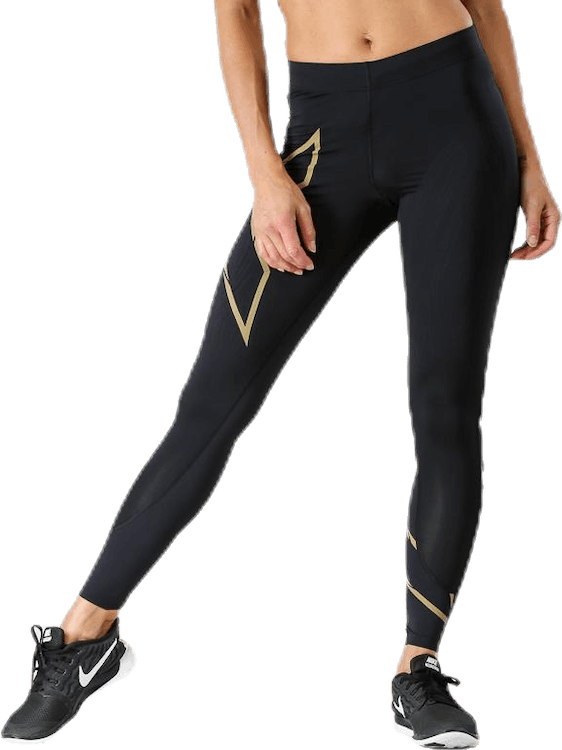 MCS Run Compression Tights W Black/Gold
