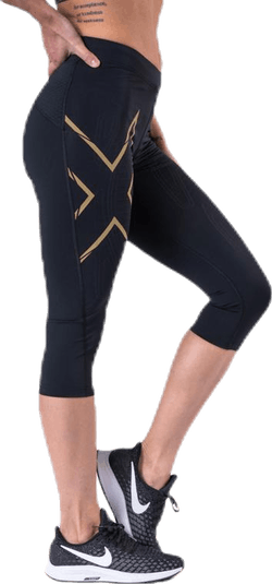 MCS Run Compression 3/4 Tights Black/Gold