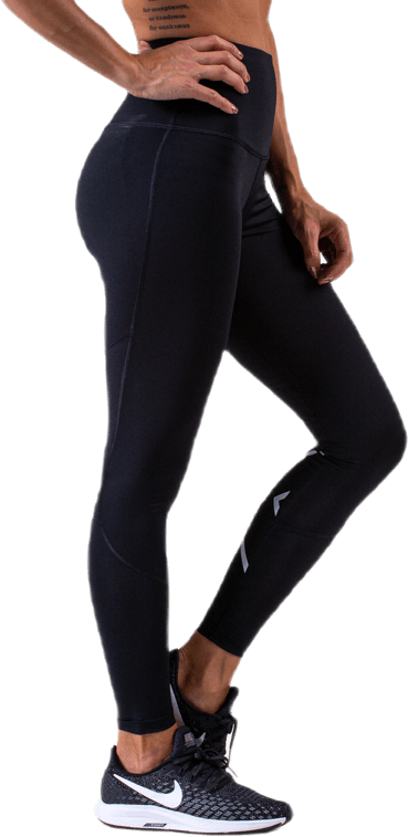 Hi-Rise Compression Tights W Black/Silver