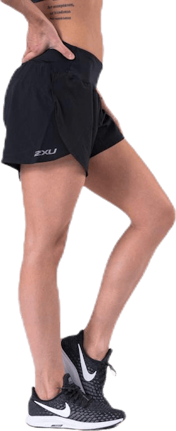 "XVENT 4"" Short (w brief) Black/Silver"