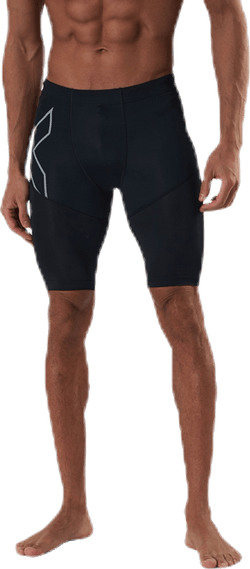 Run Dash Compression Shorts Black/Silver