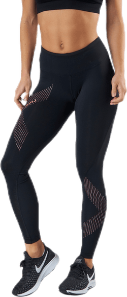 Mid-Rise Compression Tights Pink/Black