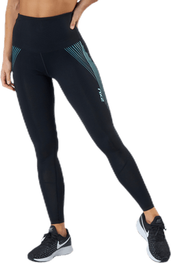 Hi-Rise Compression Tights W Blue/Black