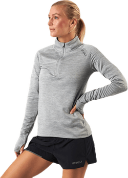 PURSUIT Thermal1/4 Zip L/S Top Grey/Silver