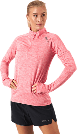PURSUIT Thermal1/4 Zip L/S Top Pink/Silver