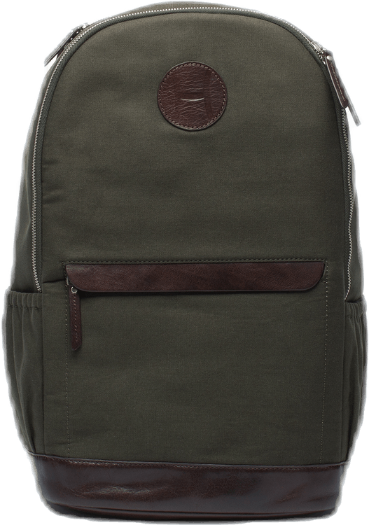 Canvas Tennis Back Pack, H Logo Green