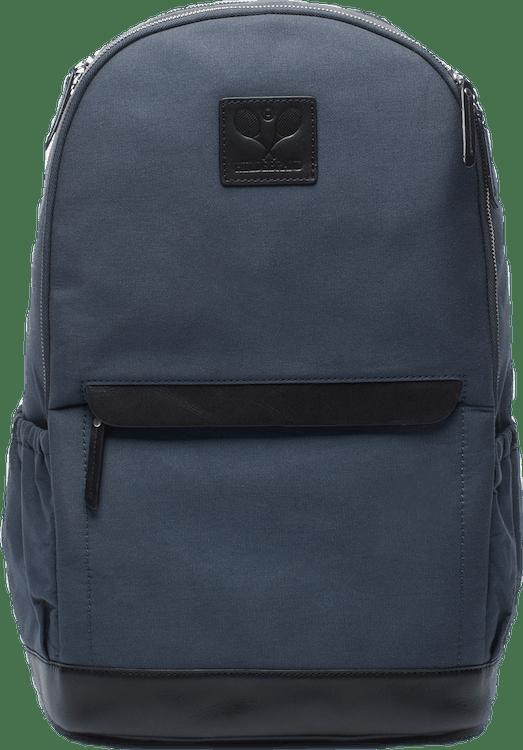 Canvas Tennis Back Pack, Tennis Logo Blue