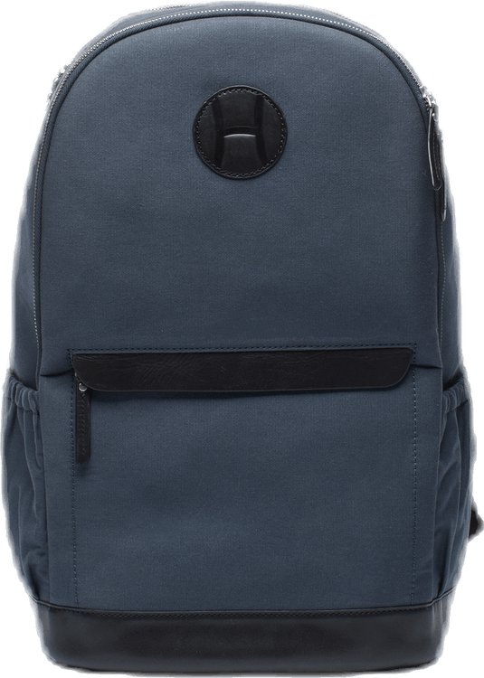 Canvas Tennis Back Pack, H Logo Blue